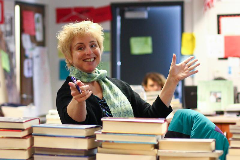 EDA teacher Kristen Pelfrey has been awarded one of YALSAs most prestigious awards. Credit: Aysen Tan/The Foothill Dragon Press