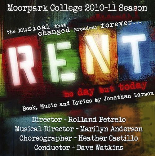 Moorpark College staged a performance of one of Broadway's most well-known musicals, Rent. Photo used with permission of Janeene Nagaoka and Moorpark College.