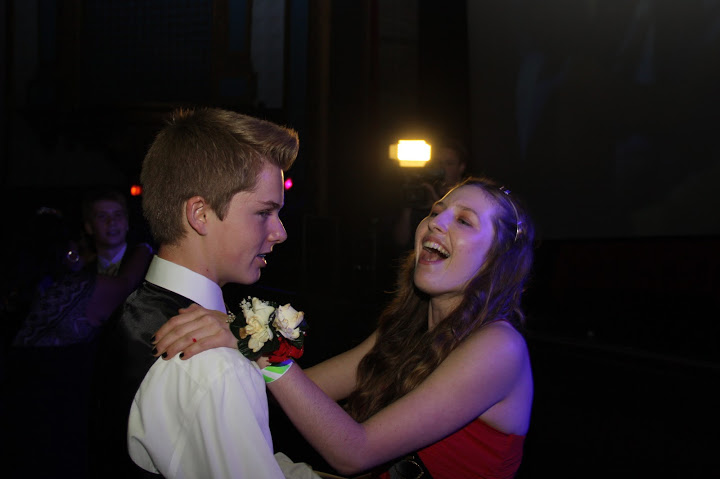 Freshmen prince and princess Cody Clark and Rugile Pekinas share a dance after the Winter Court was announced. Credit: Michael Morales/The Foothill Dragon Press