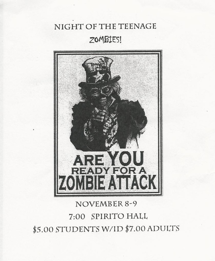 "The Foothill drama department is putting on a play this Thursday and Friday called ""The Night of the Teenage Zombies."" Credit: Foothill Drama Department. Used with permission."